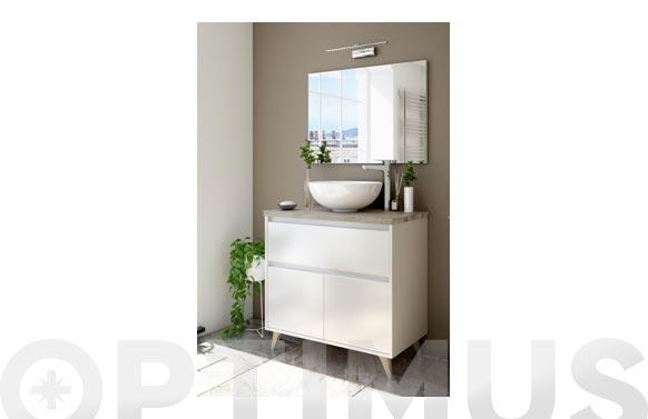 Mueble baño 80 cm con encimera ona blanco 80 x 81 x 46 cm