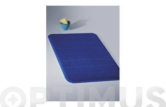 Alfombra baño memory foam minks 50 x 80 cm azul