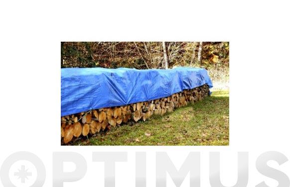 Toldo polietileno 90 grs con ojales azul/verde 4 x 6 m