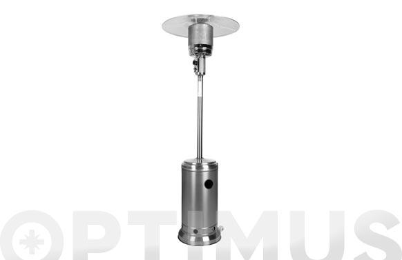 Estufa gas exterior con ruedas inox 14kw