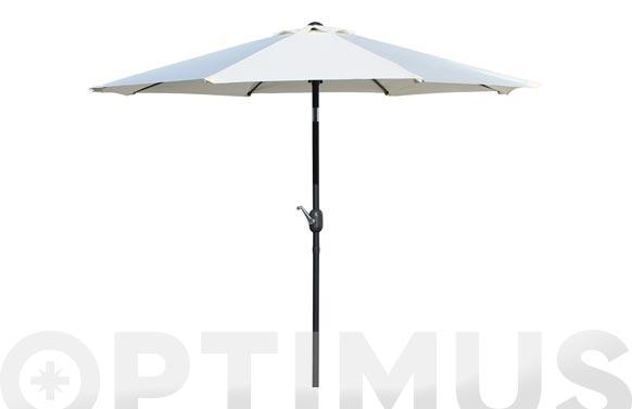Parasol aluminio inclinable taupe 250 cm tubo 38 mm con manivela