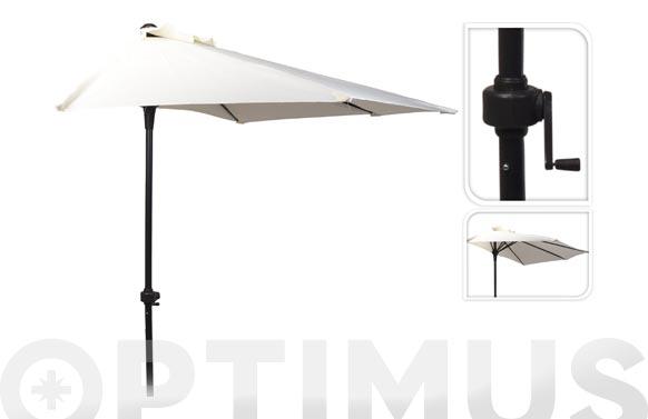 Parasol balcon c/manivela 250 cm tubo 32 mm beige