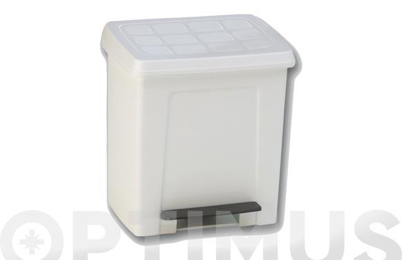 Cubo para baño con pedal 8 lts blanco