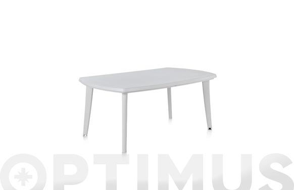 Mesa resina extensible atlantic blanco 170+55x100x73 cm