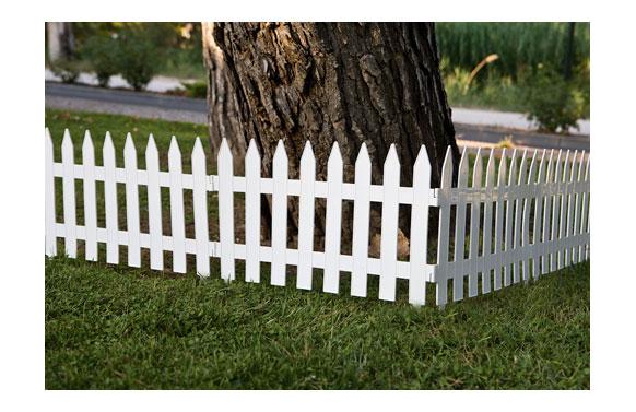 Bordura jardin blanca polipropileno 32 x 320 cm