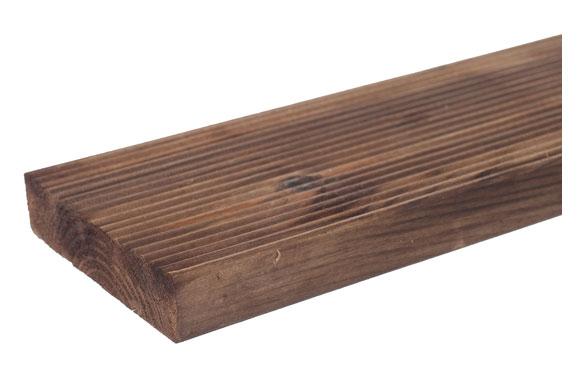 Tabla madera ranurada pedro 2,8 x 12 x 240 cm marrón