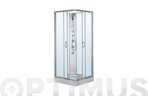 Cabina de ducha de 80 con paneles blanca dp-1901