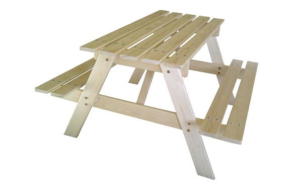 Mesita de picnic pumba para niños 90x70x50 cm. sin pintar