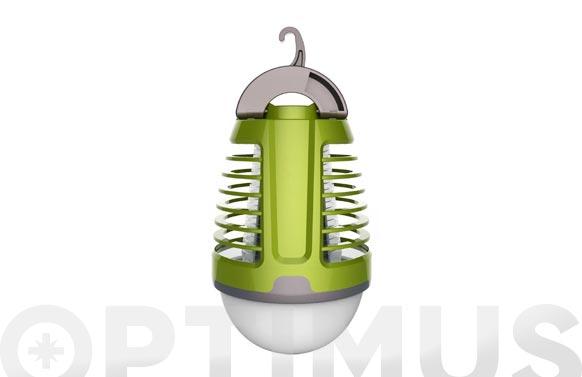 Linterna camping antimosquitos recargable 3w+2w
