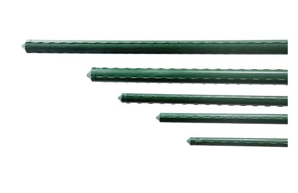 Tutor acero plastificado dia 16mm largo 1,80m