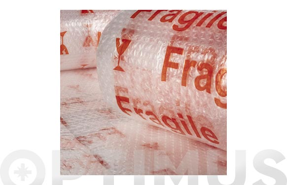 "Plastico de burbuja 40 gr/m2 ""fragil"" 0,6 x 5 m"