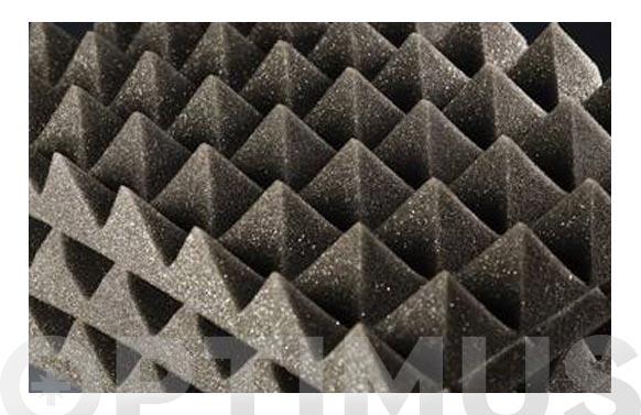 Espuma acustica piramide autoadhesiva 8 uds 45 x 45 x 4.3 cm