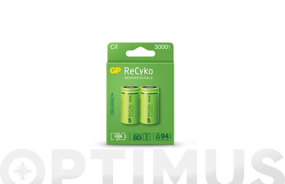 Pila recargable recyko (bl.2) lr14-c 3000mah