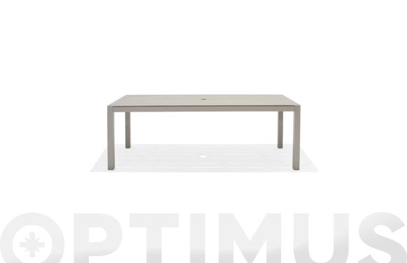 Mesa aluminio duraboard morella 201x88 cm