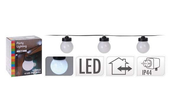 Guirnalda led 10 lamparas blancas