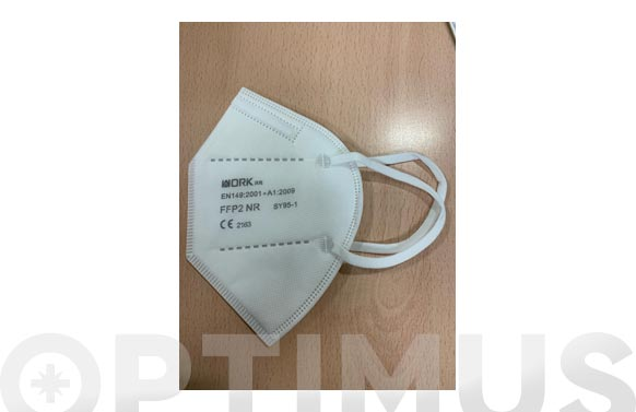 Mascarilla ffp2 no reutilizable blanca 20 unidades