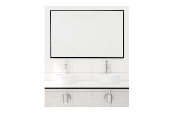 Espejo marco negro 60x80cm